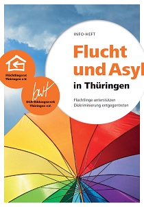 Titelblatt Infoheft Flucht und Asyl in Thüringen
