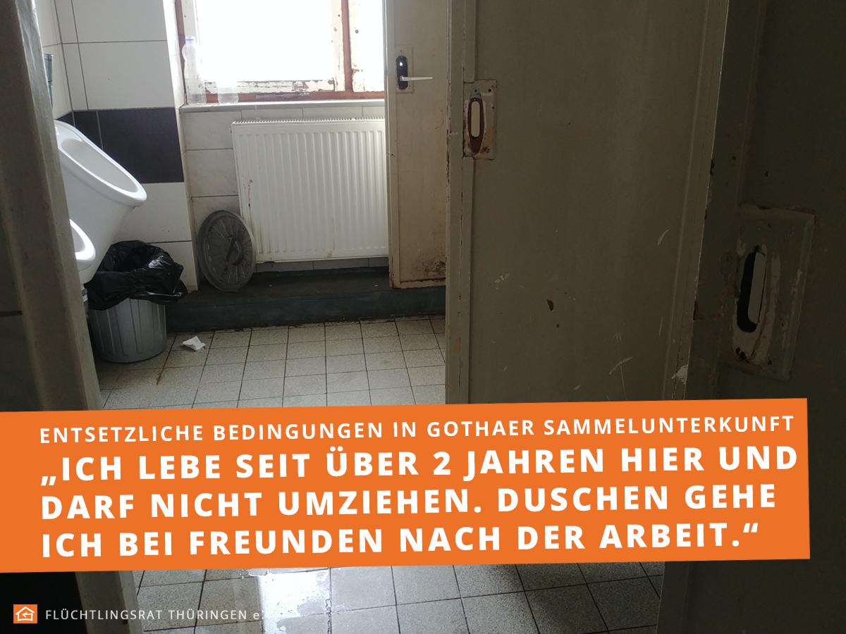 """13ff51727f ... müssen aber auch kontrolliert werden – Unterkünfte wie diese in Gotha  sollte es seit mindestens einem Jahr in Thüringen nicht mehr geben!"""", so  Arnold."""